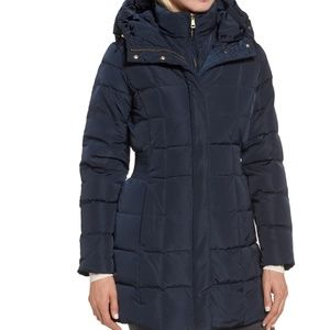 Cole Haan Signature puffer down winter coat Navy m